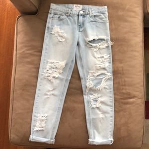 One Teaspoon Awesome Baggies Jeans 25 Light Blue